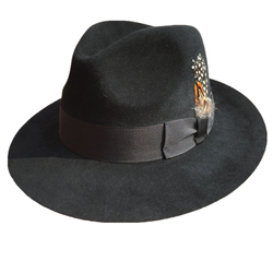 Роскошная шляпа-федора из Ангорского Кролика Гангстер Майкл Джексон джентльмен шляпы черный серый цвета