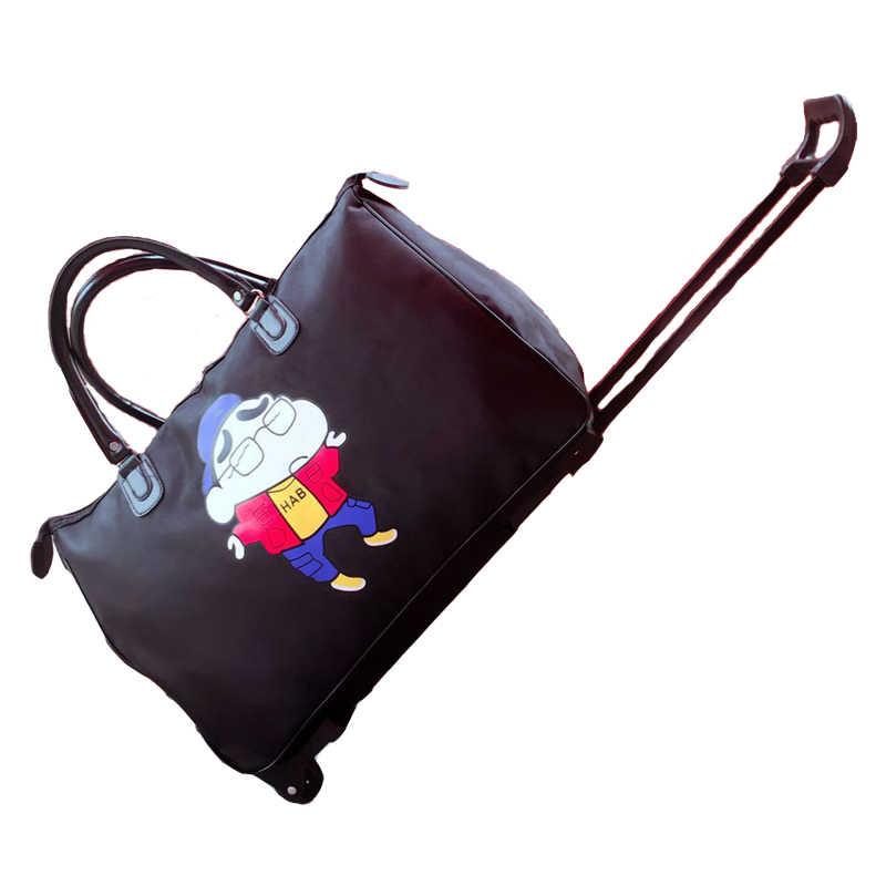 Модный водонепроницаемый чемодан на колесиках чемодан для багажа на колесиках портативный Багаж складной женский/мужской чемодан с колесом