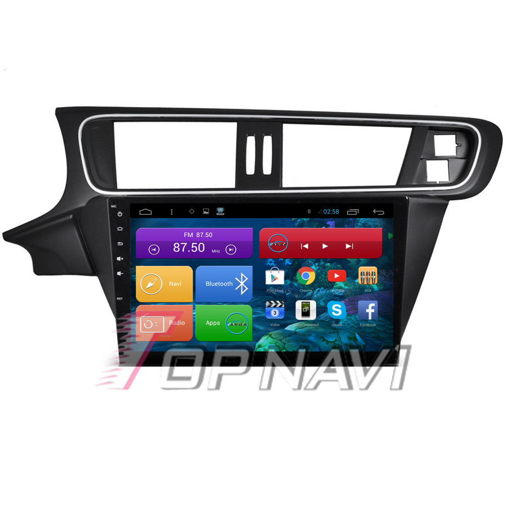 Top Free Shipping 10.2'' Quad Core Android 4.4 Car Stereo for Citroen C3 XR 2015 With 16GB Flash Radio Wifi Bluetooth Free Map