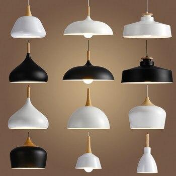 Livewin LED Hanglamp Cổ Điển Loft Đèn Mặt Dây Chuyền/Mặt Dây Chuyền Đèn Nhôm Hệ Thống Treo đèn Gỗ Treo Ánh Sáng Nhà Bếp