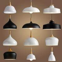LED Hanglamp Vintage Loft Industrial Pendant Lights Pendant Lamps Aluminum Suspension Luminaire Wood Hanging Lightings Kitchen