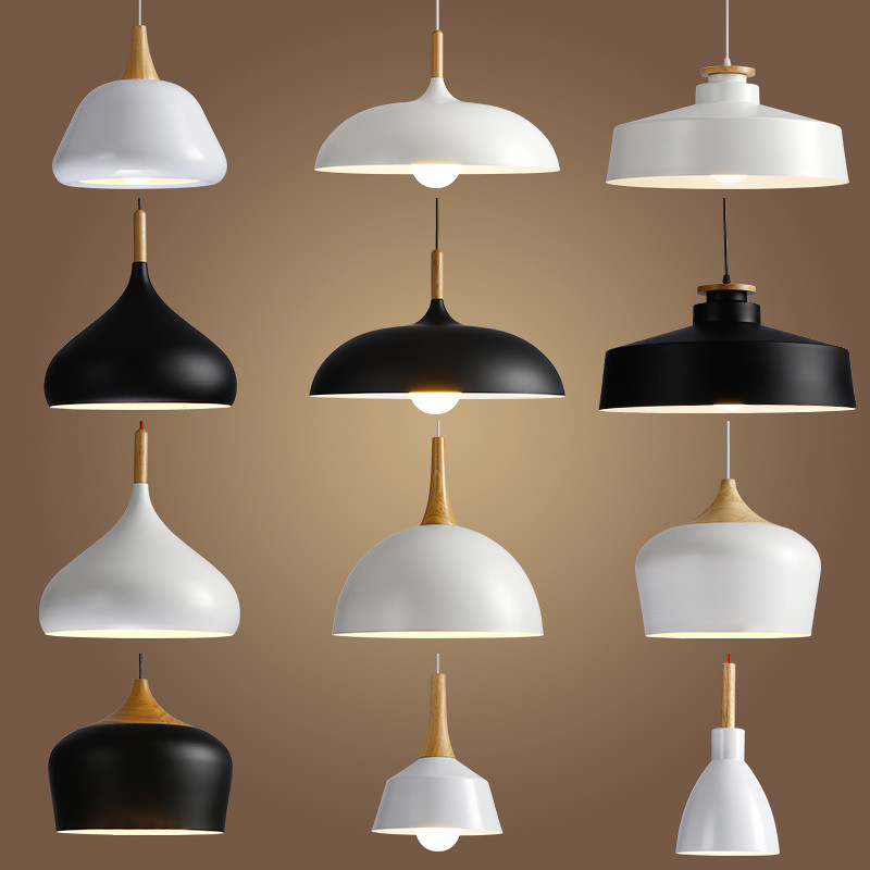 Livewin LED Hanglamp Vintage Loft Pendentif Lumières/Pendentif Lampes En Aluminium Suspension luminaire Bois Suspendus Éclairages Cuisine