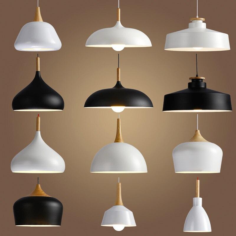 Livewin led hanglamp sótão do vintage pingente luzes/lâmpadas pingente de alumínio suspensão luminária madeira pendurado iluminações cozinha