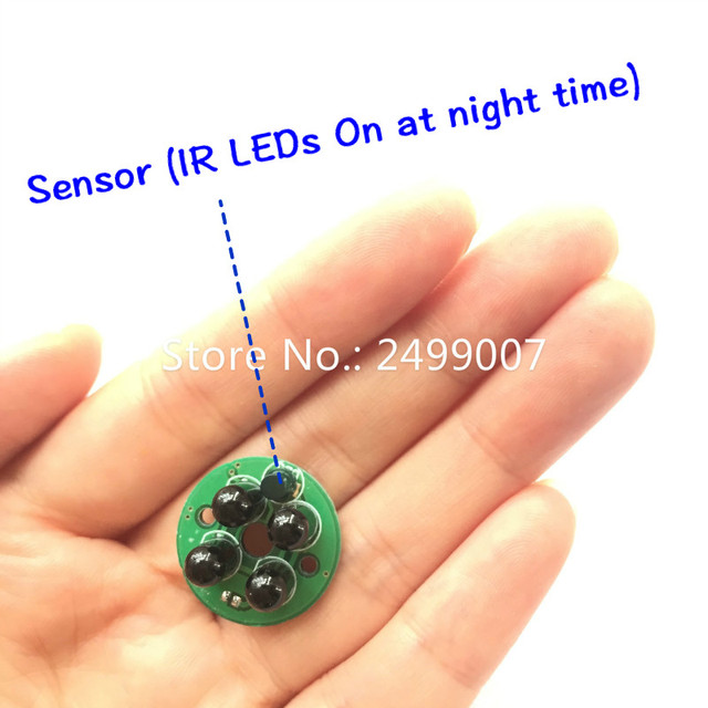 Lihmsek 940nm Night Vision Invisible No Exposure IR LED Board no Light Infrared IR Illuminator 4pcs black LEDs CCTV Accessories
