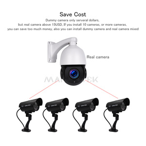 Image 4 - Fake Dummy Camera Outdoor Waterproof Home Security Video Surveillance Bullet Camera Indoor Night Vision Ipcam With LED light