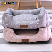 2019 Cat Warm Cave Lovely Bow Design Puppy Winter Bed House Kennel Fleece Soft Nest For Small Medium Dog for cat