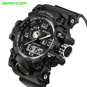 Image 2 - SANDA Men Military Sports Watches Male LED Digital Watch Waterproof Watch Men Luminous Chronograph Relogio Masculino