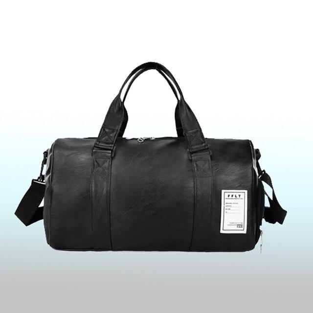 Bolsa de viaje de nueva moda de calidad, bolsa de viaje de pareja de cuero de PU, equipaje de mano para hombres y mujeres, bolsa de viaje 2018