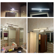 LUCKYLED Wall Lamp Bathroom Led Mirror Light 7W 40cm 9W 55cm AC 220V 240V 110V Wall sconces Light With Switch Indoor Lighting