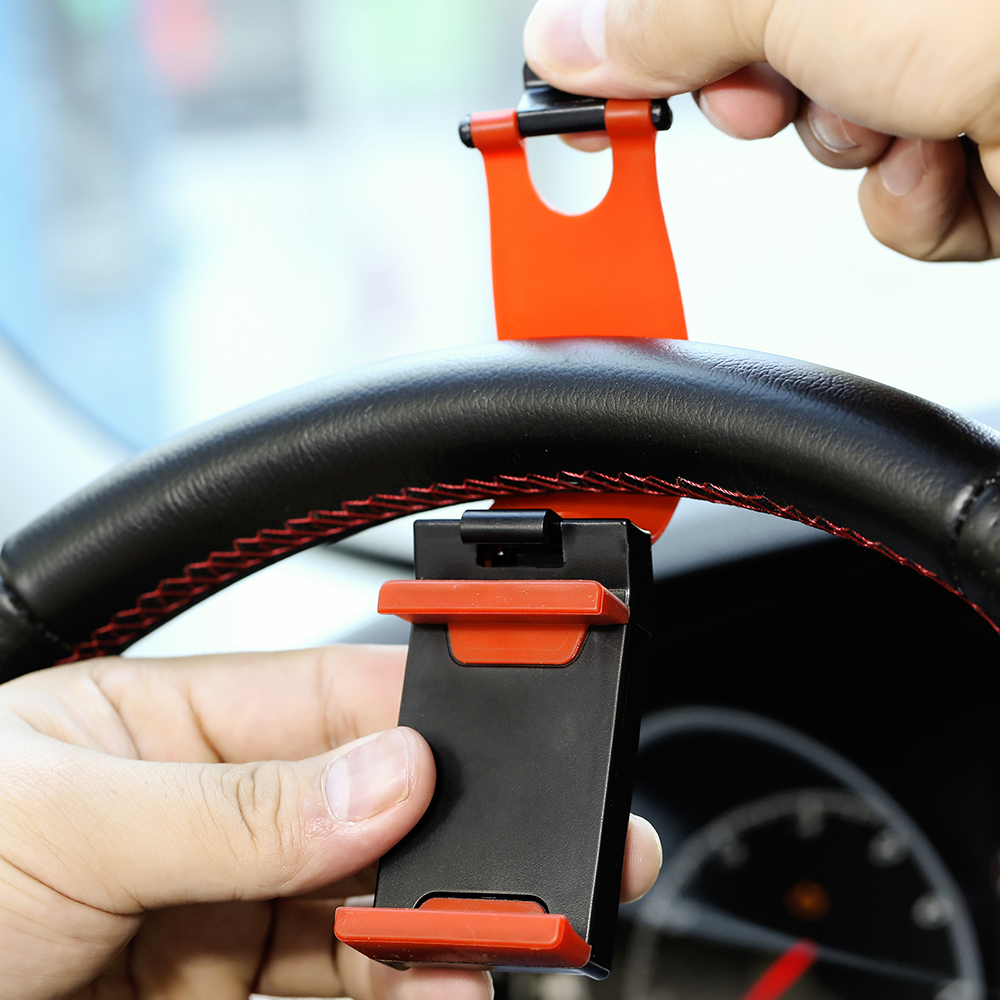 Universal Car Phone Holder Stand Steering Wheel Bike Clip Mount Rubber Band Holder For IPhone For Samsung Xaomi Mobile Phone
