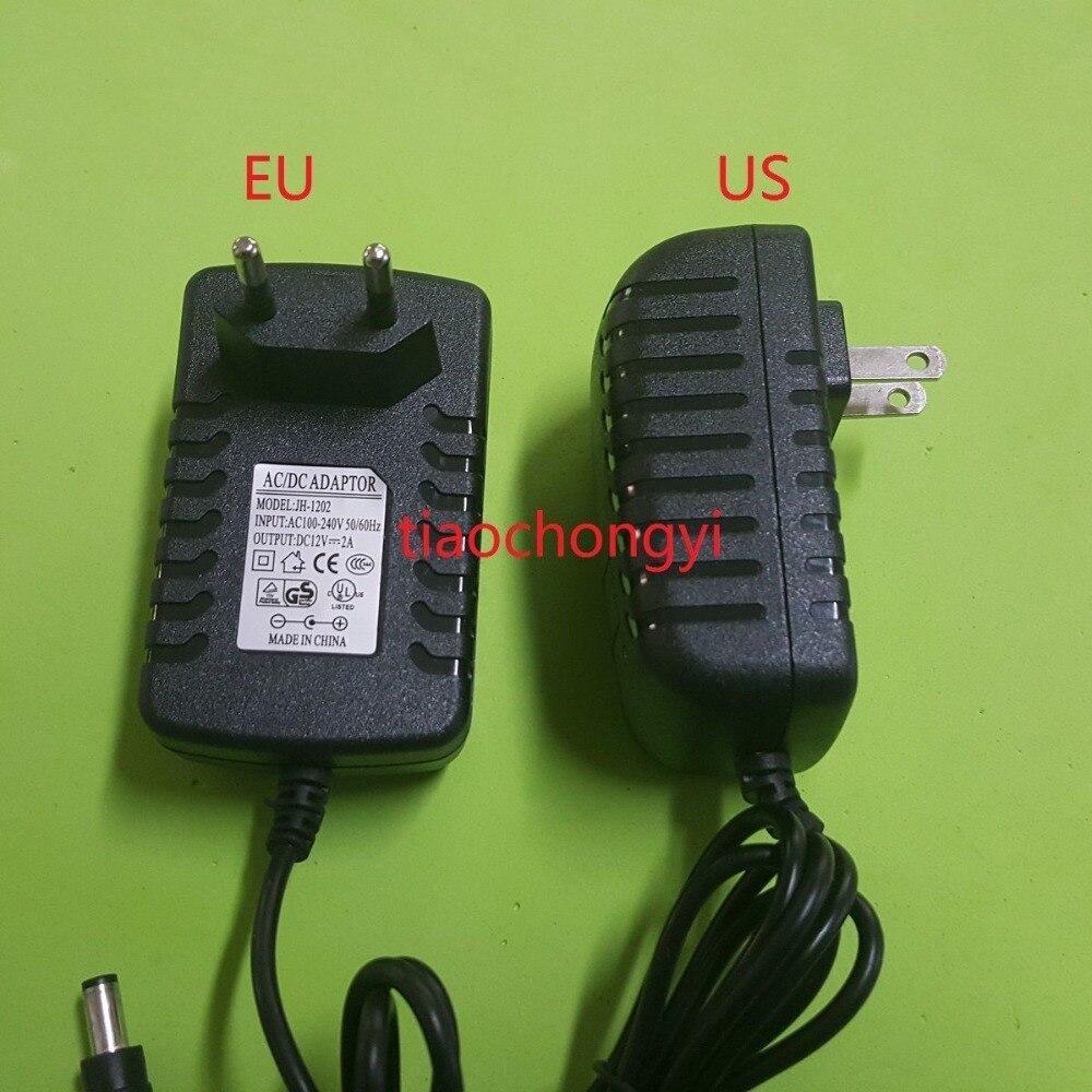 Black EU US DC12V 2A AC Adapter Power Supply For 5050 5630 3528 LED Strip 24W