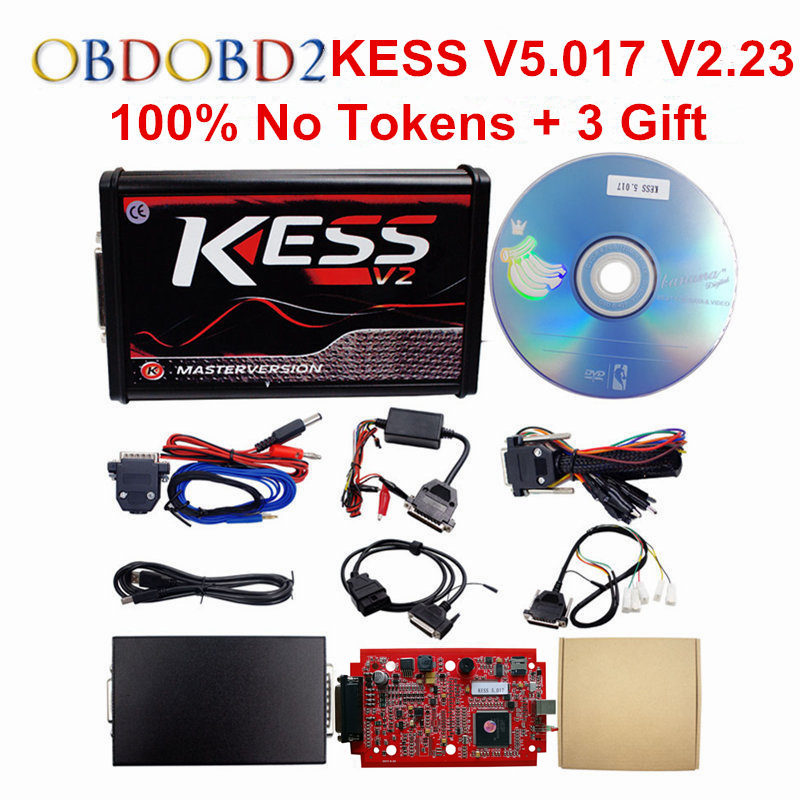 Online Master KESS V5.017 KESS V2 5.017 OBD2 Manager Tuning Kit KESS 5.017 V2.23 Red PCB 5.017 No Tokens Limited ECU Programmer 2017 newest ktag v2 13 firmware v6 070 ecu multi languages programming tool ktag master version no tokens limited free shipping