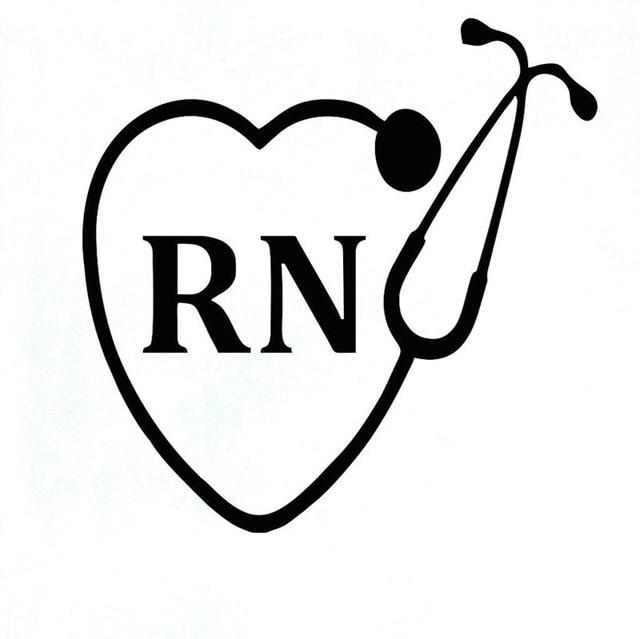Stethoscope Vinyl Decal Name
