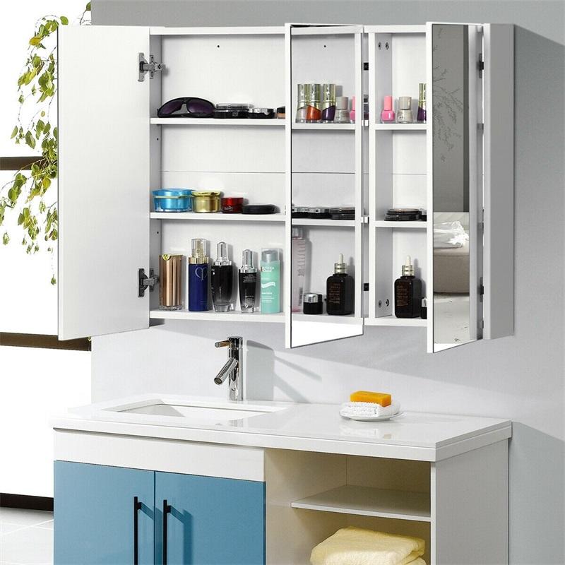 Medicine Cabinet 3 Mirrors Wall