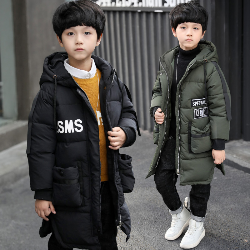 Baby Boys Parka Winter Coat Kids Jacket All-match Hooded Thick Big Pocket Fashion Warm Children Overcoat Cotton-padded Clothes casual 2016 winter jacket for boys warm jackets coats outerwears thick hooded down cotton jackets for children boy winter parkas