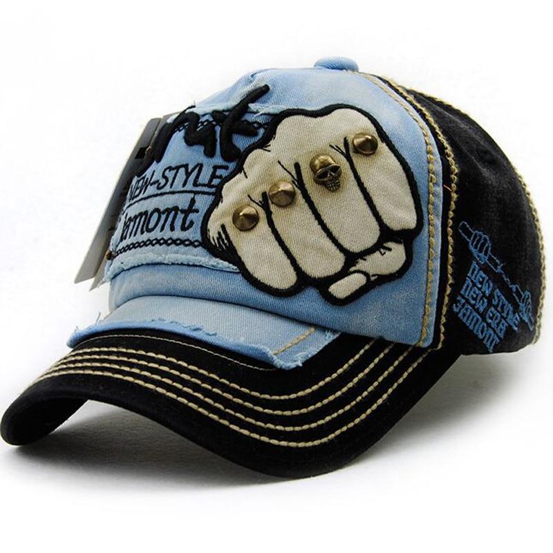 Kapelë e re unisex Snapback Rivet Fist Baseball Kapele pambuku - Aksesorë veshjesh - Foto 4