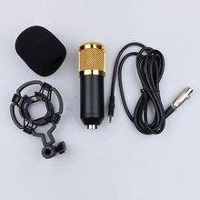 Micrófono de estudio profesional BM 800, condensador para grabación de sonido, micrófono con cable dinámico + soporte