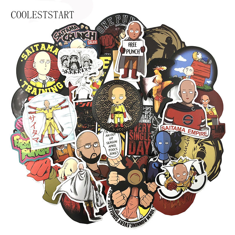 70 PCS/Set ONE PUNCH-MAN Doodle Stickers Japanese Anime For Refrigerator Notebook Bag Motorcycle Bicycle Decal Toy Gift Stickers