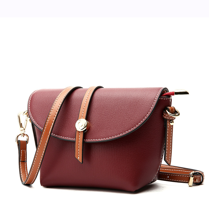 Simple and convenient shell-shaped cover type Sewing thread soft surface Genuine Leather crossbody bags for women messenger bagsSimple and convenient shell-shaped cover type Sewing thread soft surface Genuine Leather crossbody bags for women messenger bags