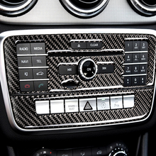 Car Accessories For Mecredes Benz GLA CLA A B Class Carbon Fiber air conditioning switch CD central control Decoration Stickers