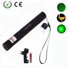 Green Laser sight High Power jakt Green Dot taktisk 532 nm 5mW 303 laser pointer verde lazer Pen Head Burning Match