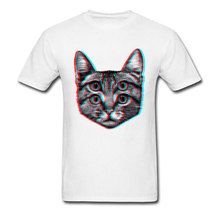 Psychedelic Brainsick Cat T Shirt Neko Rahman Kitten Animal Tshirts 3D Cotton Polyester Clothing Mens White Tops Tees Miaow