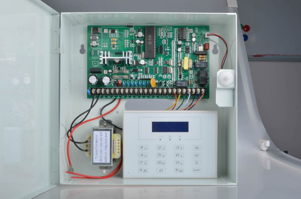 Hot Sale Metal box 8 wired zones hard wire gsm alarm system wired ...