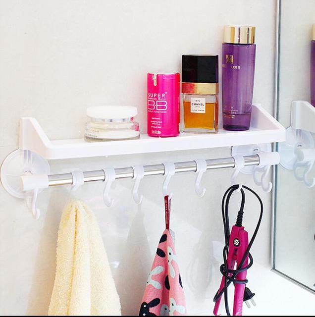 home organizador sundries shelf sucker washroom decor towel holder