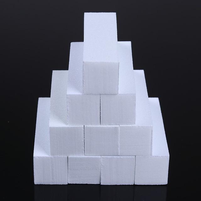 1/2/5/10 pc Pink Form Nail Buffers File For UV Gel White Nail File Buffer Block Polish Manicure Pedicure Sanding Nail Art Tool 5