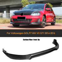 Carbon Fiber Front Bumper Diffuser Lip For Volkswagen VW GOLF 7 VII MK7 GTI 2014 2015 2016 Car Styling O style