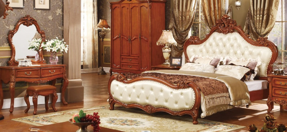 US $3565.0 |hot sale cheap price good quality solid wood king size bedroom  set-in Bedroom Sets from Furniture on AliExpress
