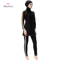 New Muslim Swimwear Long Sleeves Islamic Swimming Suits With Cap Muslim Swimwears High Quality Beach Sport Bathing Suits