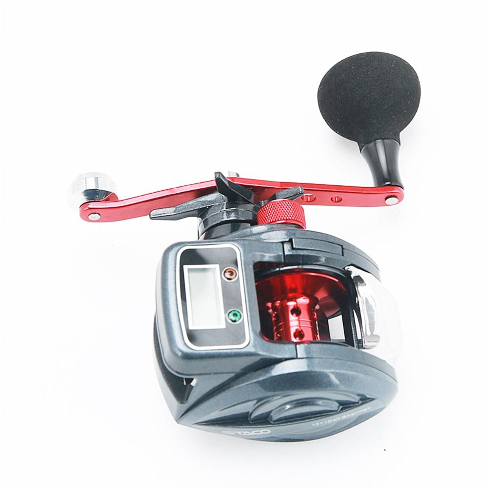 Fishing Reel 6kg Drag 6.2:1 Electronic Digital Display Fishing Reel 13+1 Ball Bearing Casting Fishing Line Counter Reel X24