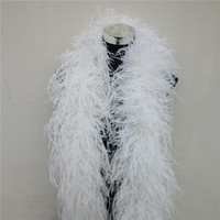 4 Meters 6Layers Quality fluffy white Ostrich Feather Boa Costumes/Trim for Party/Costume/Shawl/Craft Ostrich Feather Available