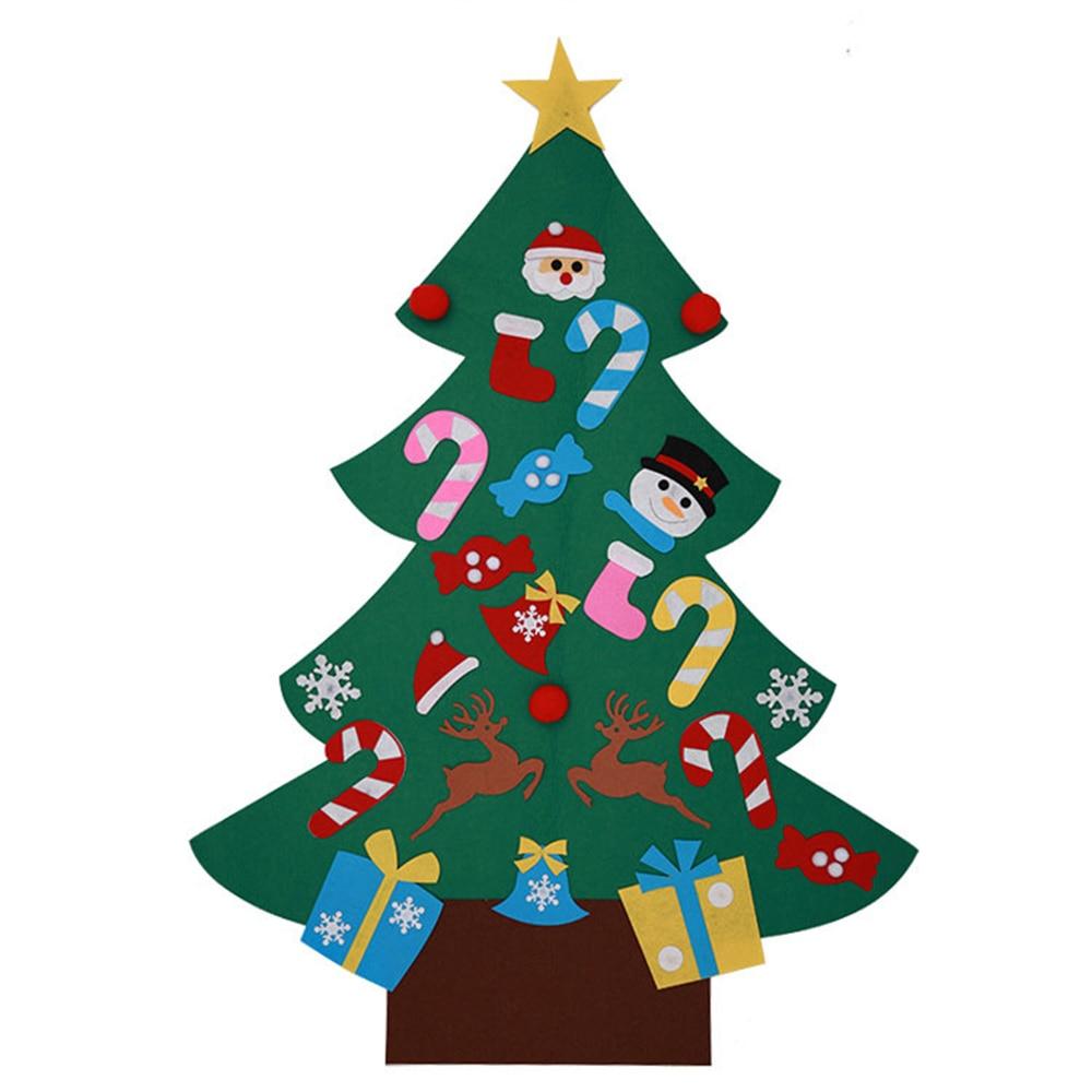 2018 DIY Felt Christmas Tree Pendant Drop Ornaments New ...