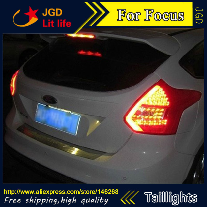 Car Styling tail lights for Ford Focus 2012 LED Tail Lamp rear trunk lamp cover drl+signal+brake+reverse lsrtw2017 car styling car trunk trims for honda crv 2017 2018 5th generation