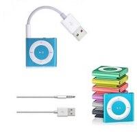 Conector de 3,5mm a USB 2,0 Cable de alimentación de sincronización de datos adaptador cargador Cables para Apple para iPod Shuffle útil