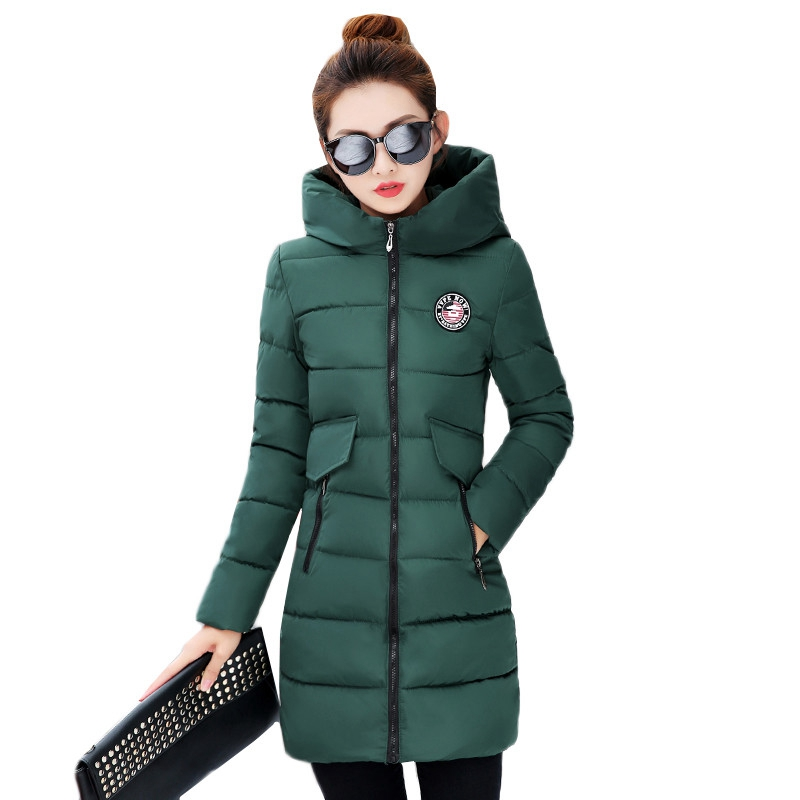 Winter Jacket Women Hooded Thickening Female 2017 New Women Jacket Warm Cotton Coat Slim Parkas Ladies Outwear Plus Size WU38 2017 winter women plus size in the elderly mother loaded cotton coat jacket casual thickening warm cotton jacket coat women 328