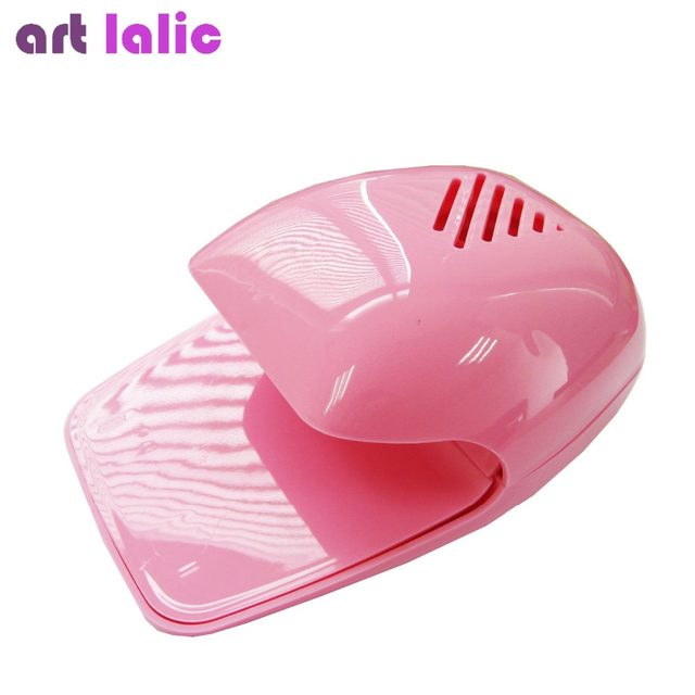 Mini Portable Nail Polish Dryer Fan Art Drying Pink Cooler Hot Ing