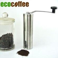 1 STÜCK Kostenloser Versand manuelle kaffeemühle Kaffeemühle Mühlen Coffee Bean Grinder Keramik Mühlen Edelstahl Hand