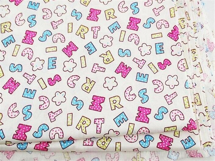 50*147 CM de tela de algodón 100 por ciento letras bandera para Niños Tejido rop