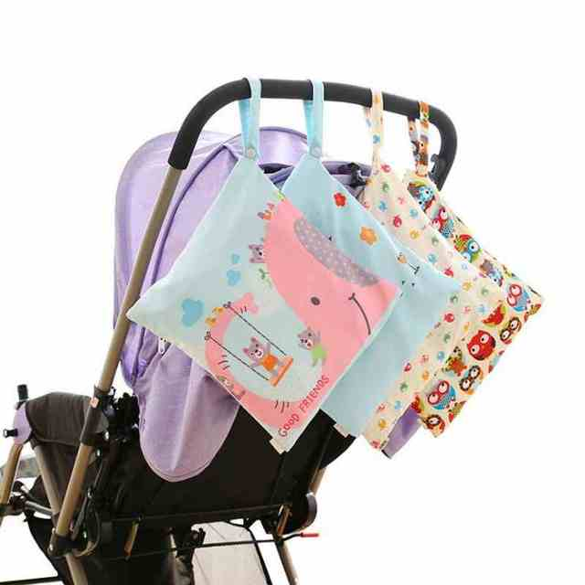 3a3d205b42336 Online Shop Baby Stroller Accessories Reusable Waterproof Fashion Prints  Wet Dry Diaper Bag Double Fabric Cloth Stroller Organizer | Aliexpress  Mobile