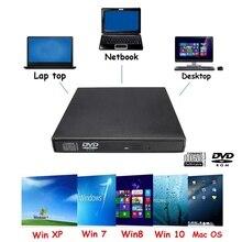Professional USB 2.0 External CD DVD Combo CD-RW Drive Burner Writer For Notebook PC Portable SATA External Case Slim for Laptop
