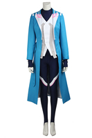 Pokemon Go Mystic Blanche Cosplay Costume Pocket Monster Blue Team Gym Leader Adult Uniform Overcoat Halloween