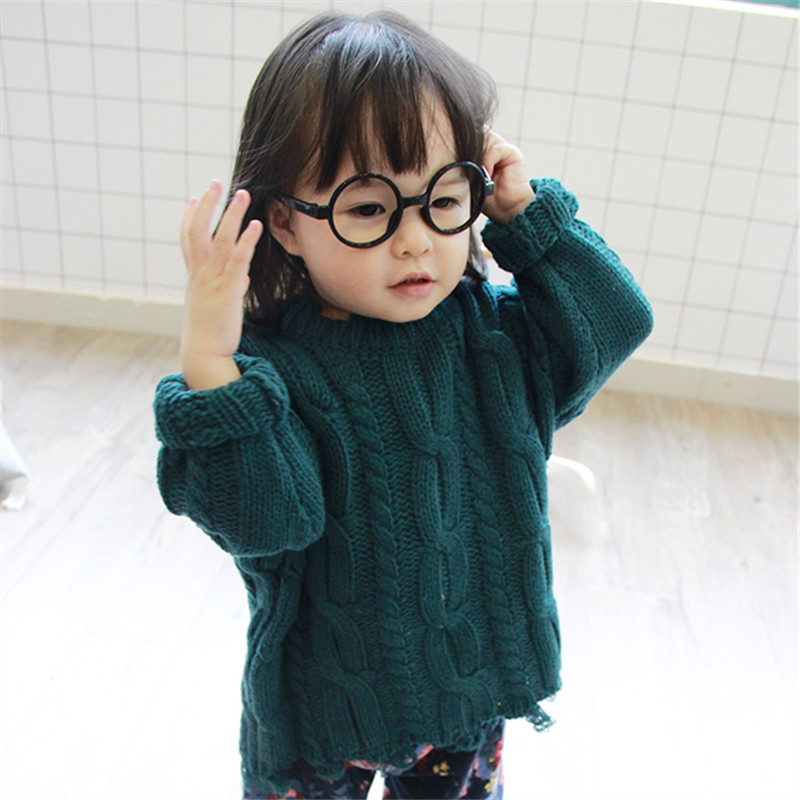 2018 Warm Baby Children Boys And Girls Cotton Winter Long Sleeve Sweater Babes Thick Knitting Pattern Irregular Hems Clothing In Sweaters From Mother Kids