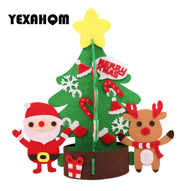 New Diy Cloth Christmas Tree Early Education Toys Montessori