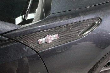 Автомобильные аксессуары сухой углеродного волокна крыло эмблема крышка подходит для GT86 FT86 ZN6 FR-S крыло эмблема крышка автомобиль-Стайлинг
