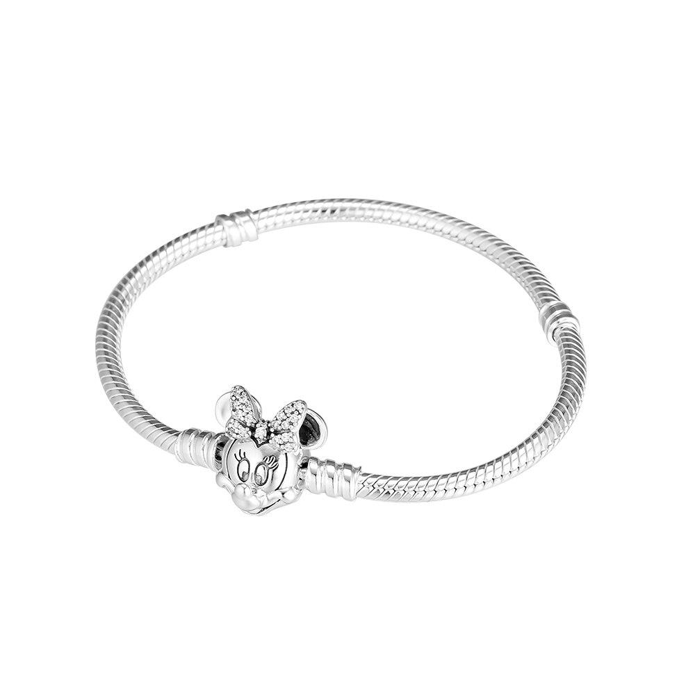Bracelets de Portrait de souris chatoyante 100% bijoux en argent Sterling 925 livraison gratuite