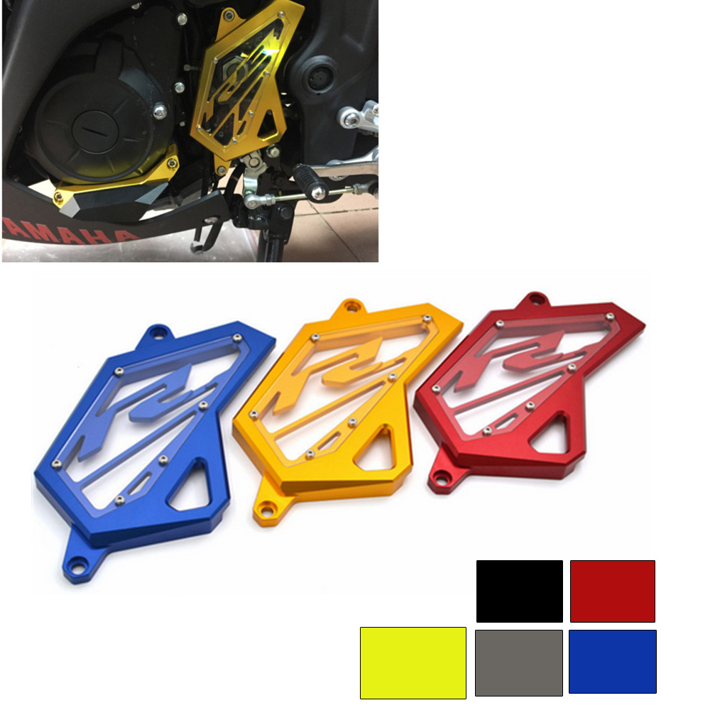 Knight CNC Aluminum Front Sprocket Chain Guard Cover Left Side Engine For Yamaha YZF R3 MT03 MT25 2015 2017 YZF R25 2013 2017