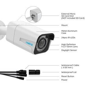 Image 3 - Reolink ensemble de caméra de sécurité intérieure et extérieure hd, ip PoE 5MP, zoom extérieur, fente pour carte SD intégrée, IP66, protocole P2P H.264 RLC 410 et 511